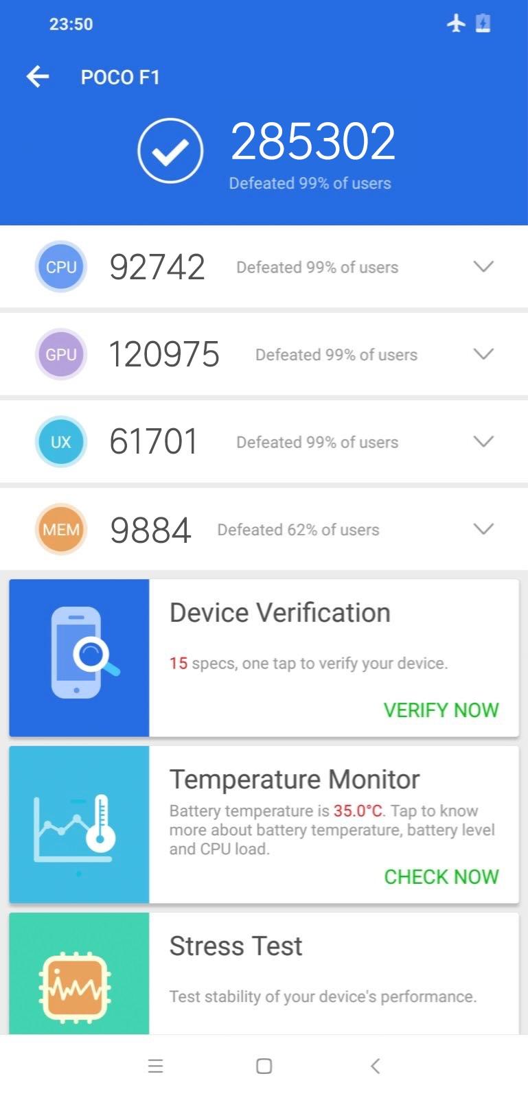 Xiaomi Pocophone прогнали через AnTuTu