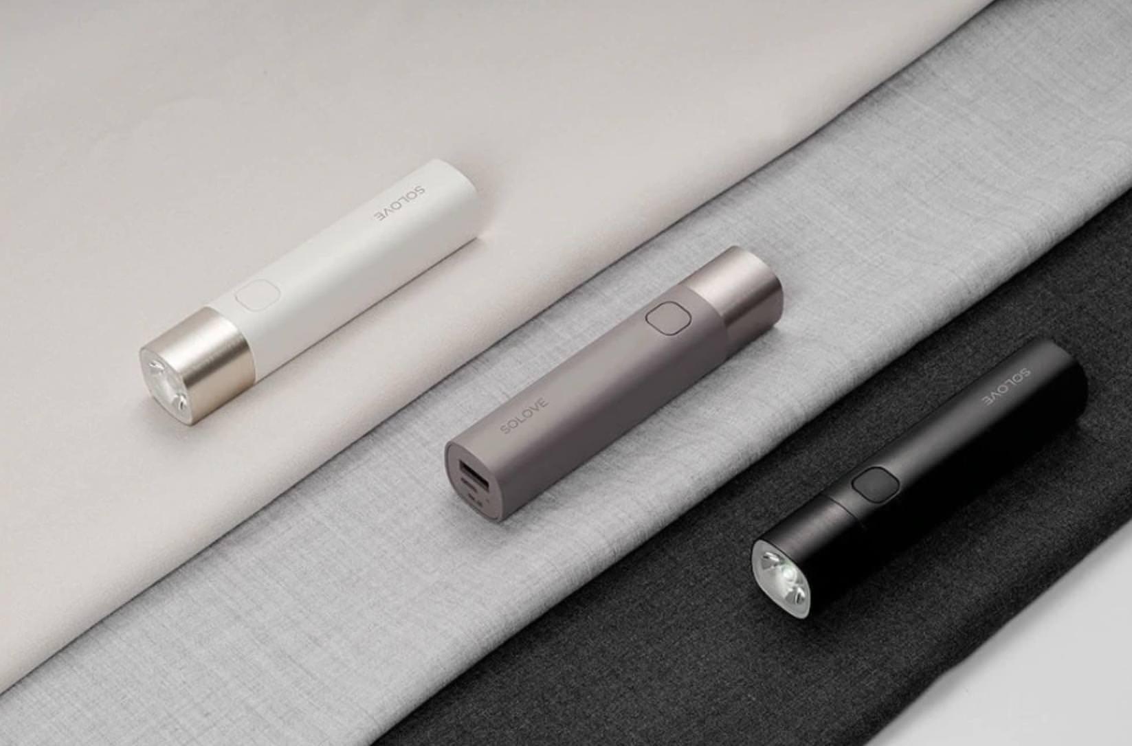 Новый фонарик-повербанк Soloveдля любителей продуктов Xiaomi