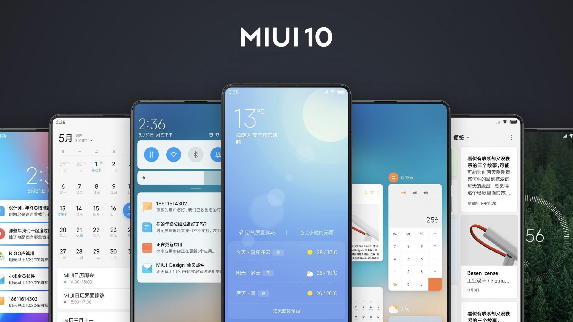 MIUI 10: обзор прогрессивных изменений